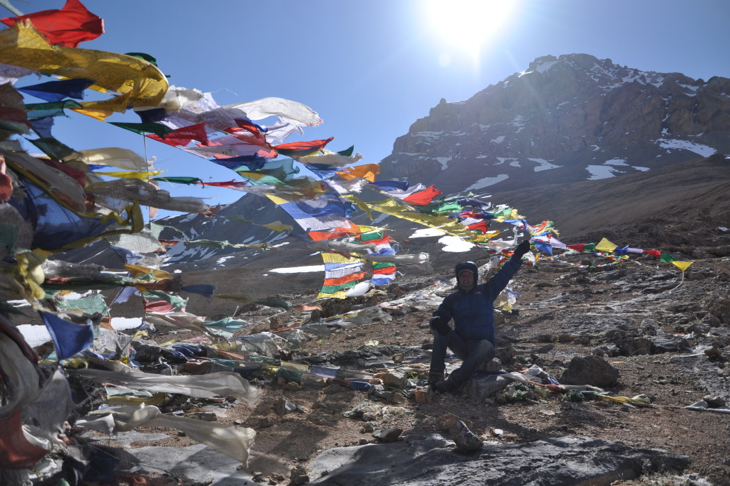 Tibetan prayer flags blessing the trip